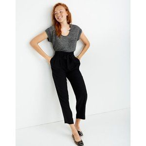 NWT Size 14 Madewell Black Drapey Paperbag Pants